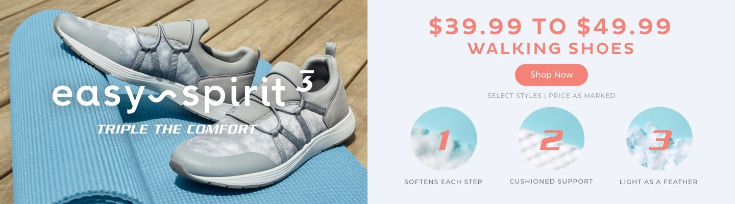 $39.99 to $49.99 Walking Shoes