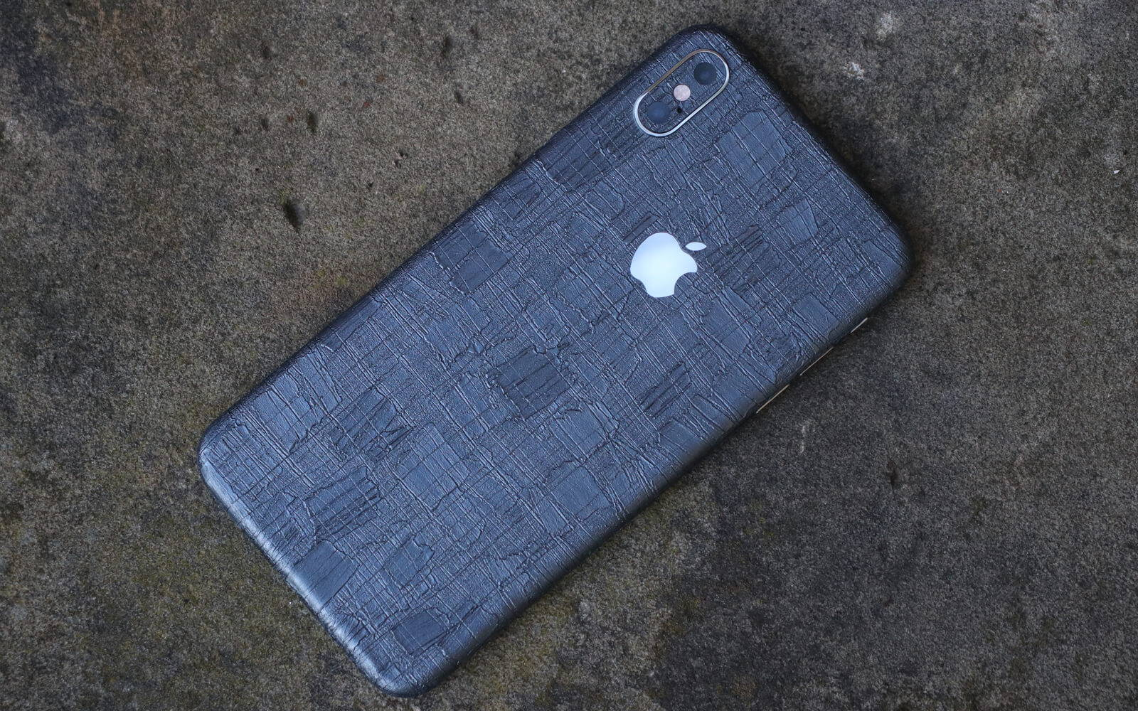 iPhone XS Max Carved Charcoal SKins