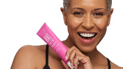 Woman with Lexi Skin Foot Cream