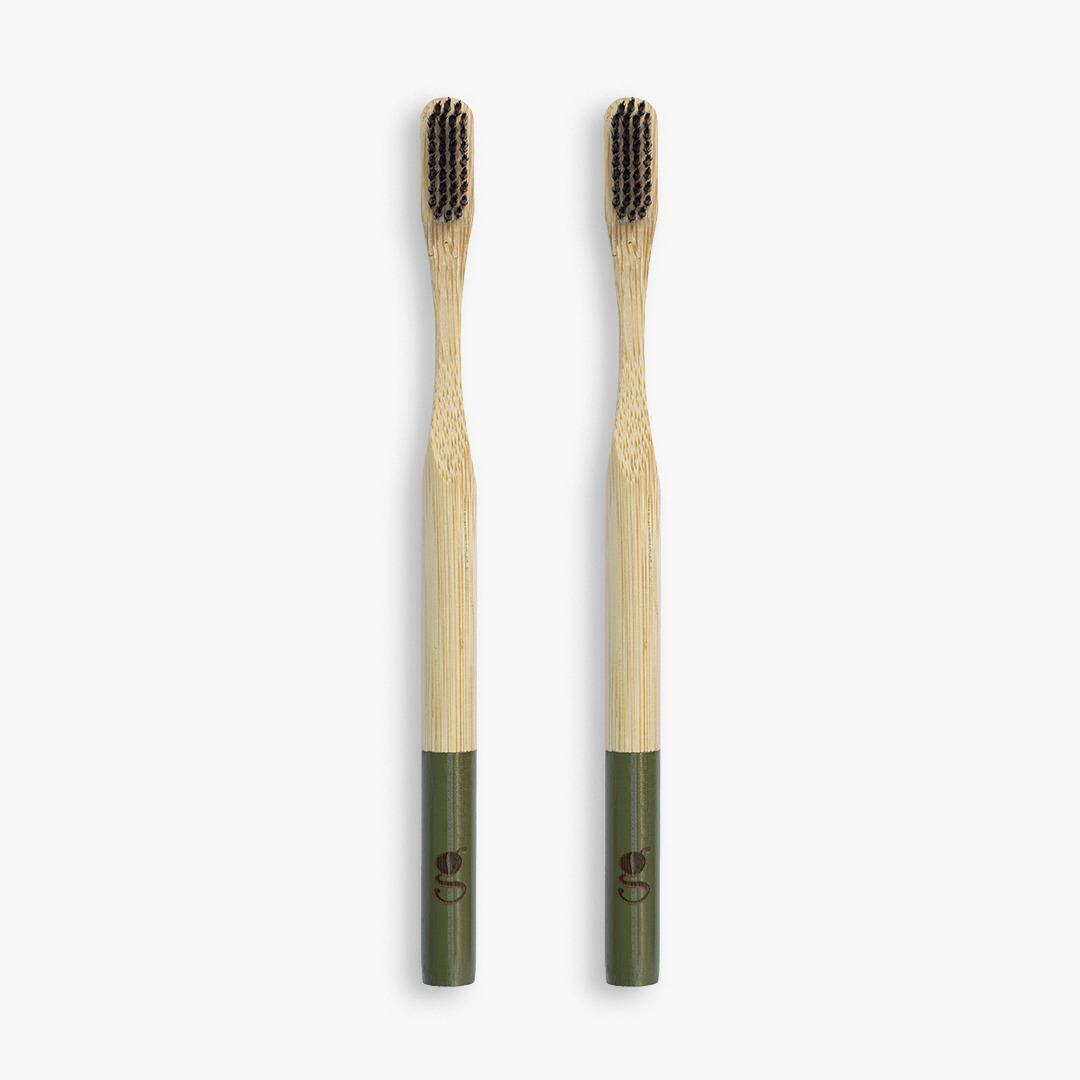 2 pack ecofriendly bamboo toothbrush