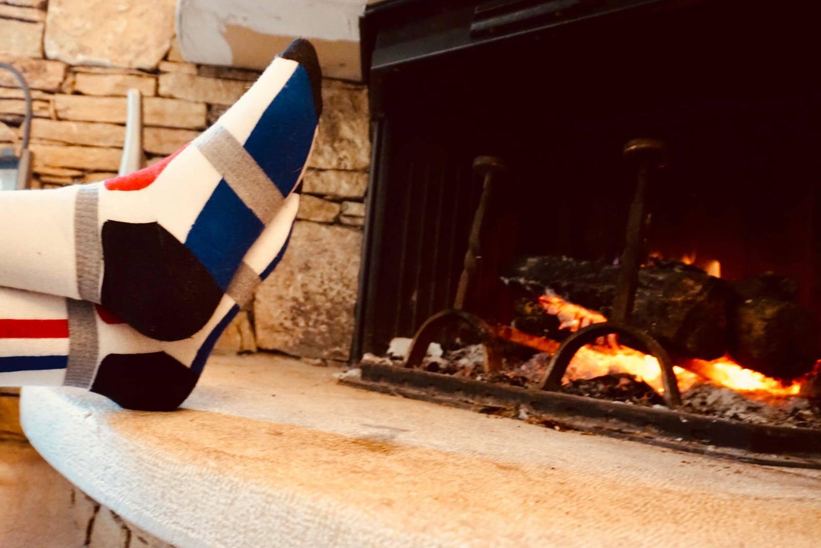 chaussettes de ski avec un bon maintien du pied