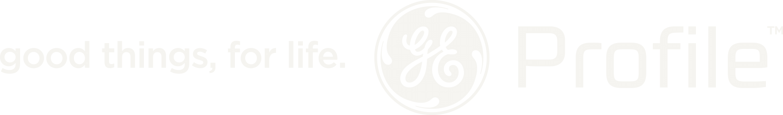 good things, for life. GE Profile