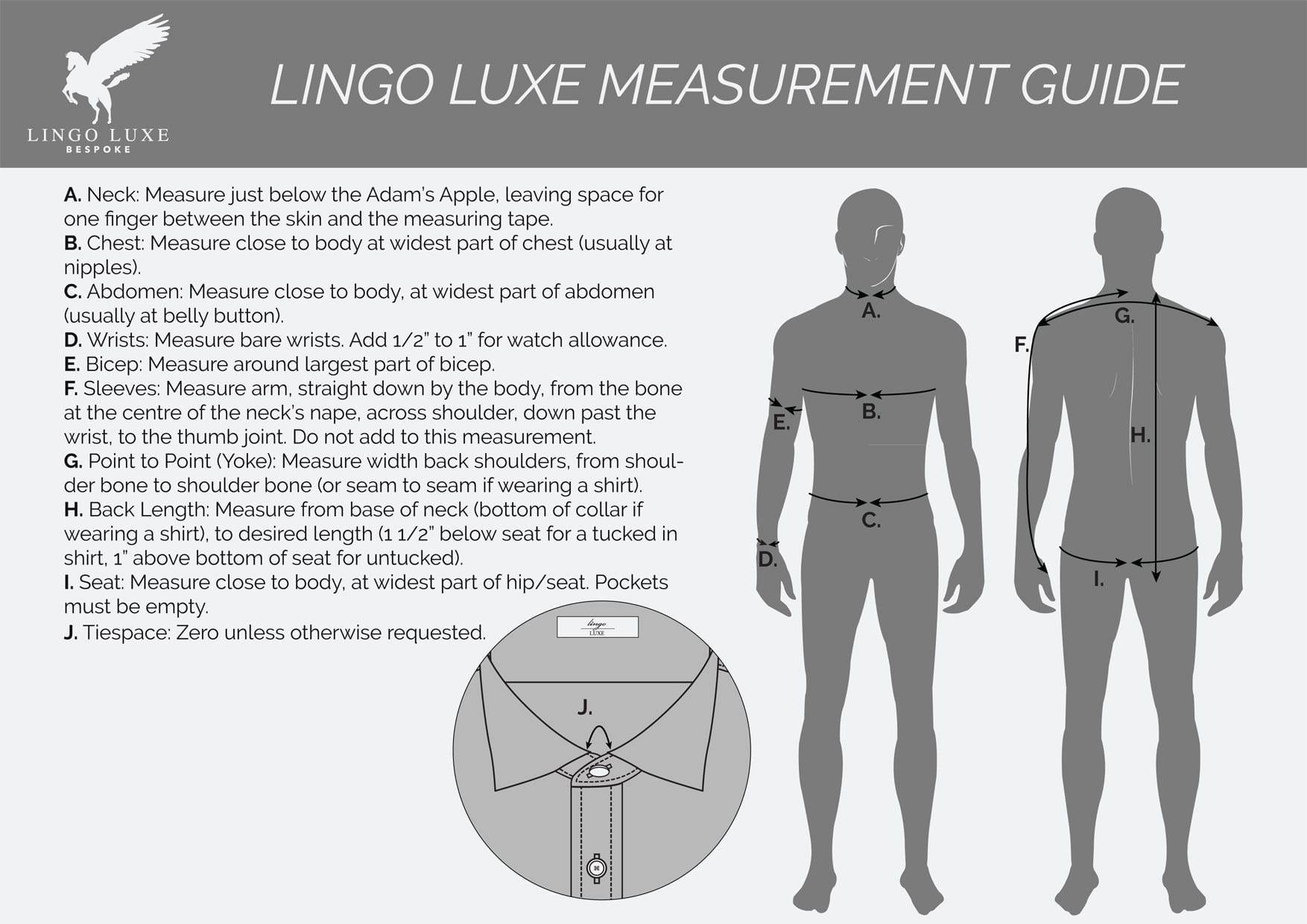 Lingo Luxe Bespoke   Measuring for a Perfect Fit
