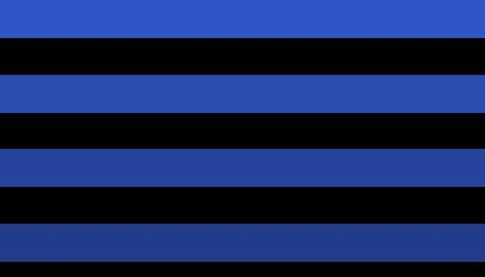 Black and blue stripes