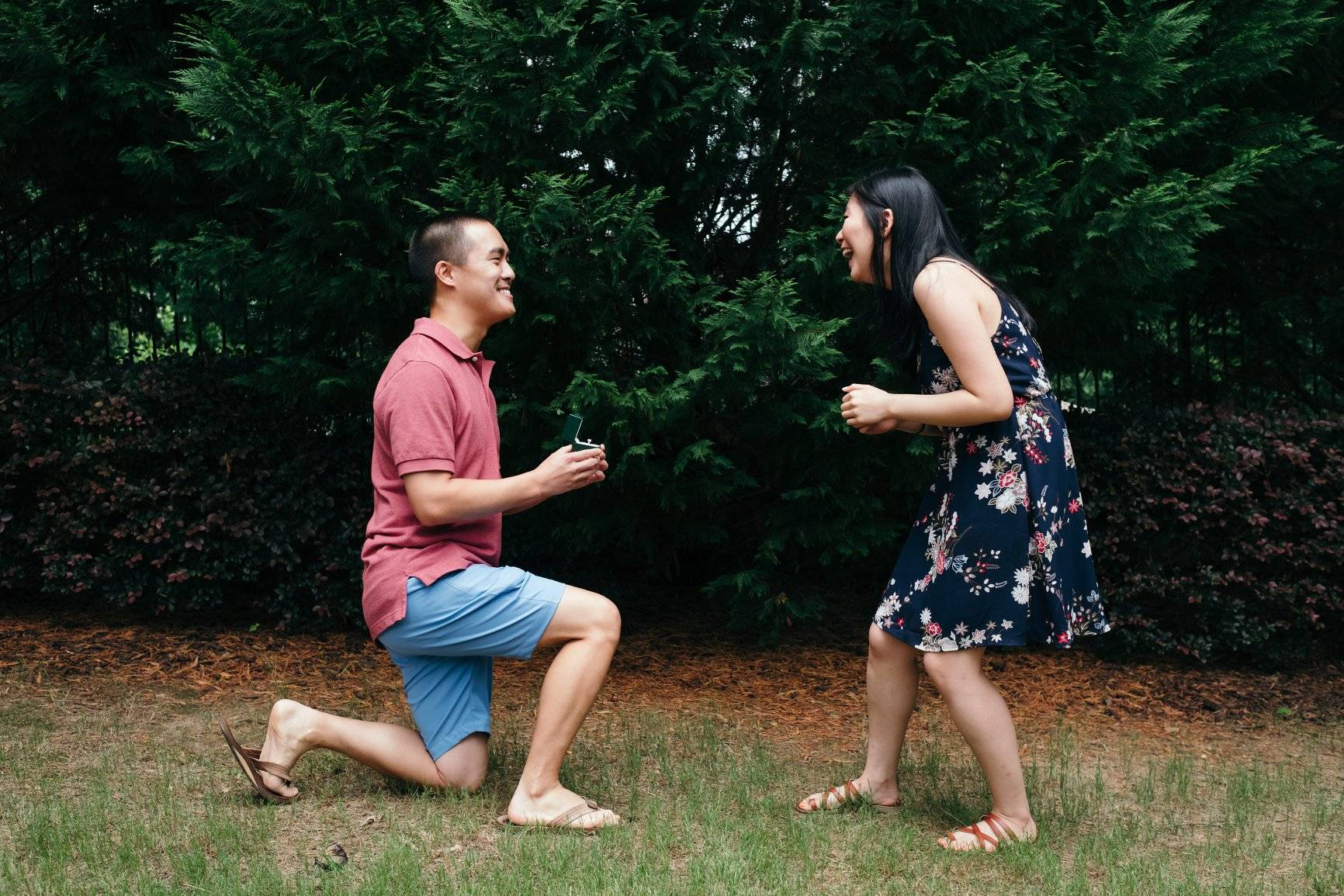 Daniel Proposes to Georgia with Schiffman's Engagement Ring