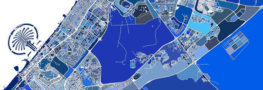 Dubai map print