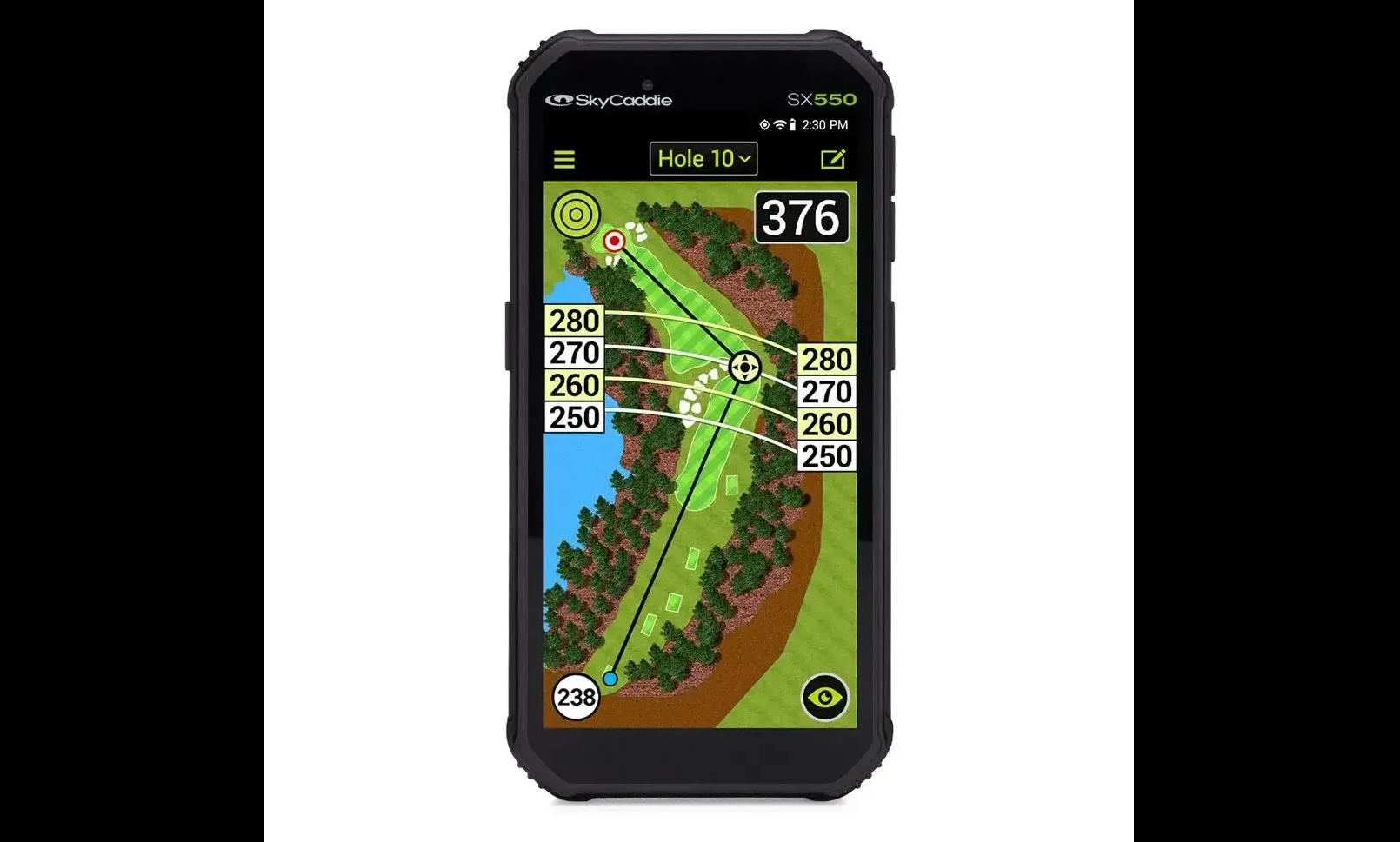The SkyCaddie SX550 premium handheld golf GPS
