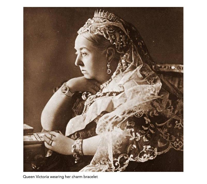 Queen Victoria wearing charm bracelet