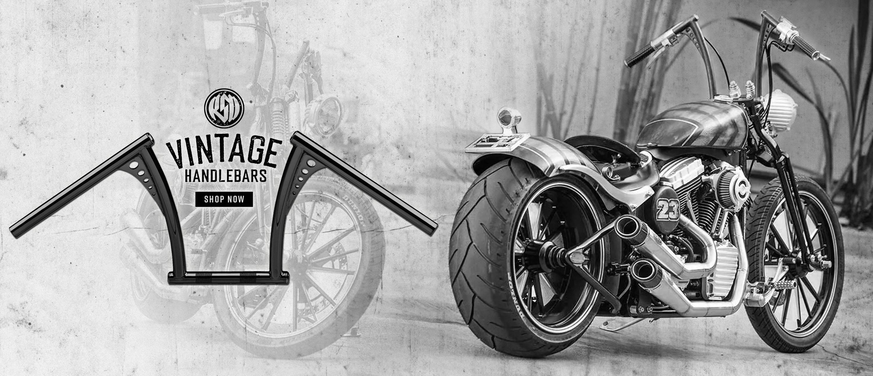 Vintage style handlebars for Harley-Davidson