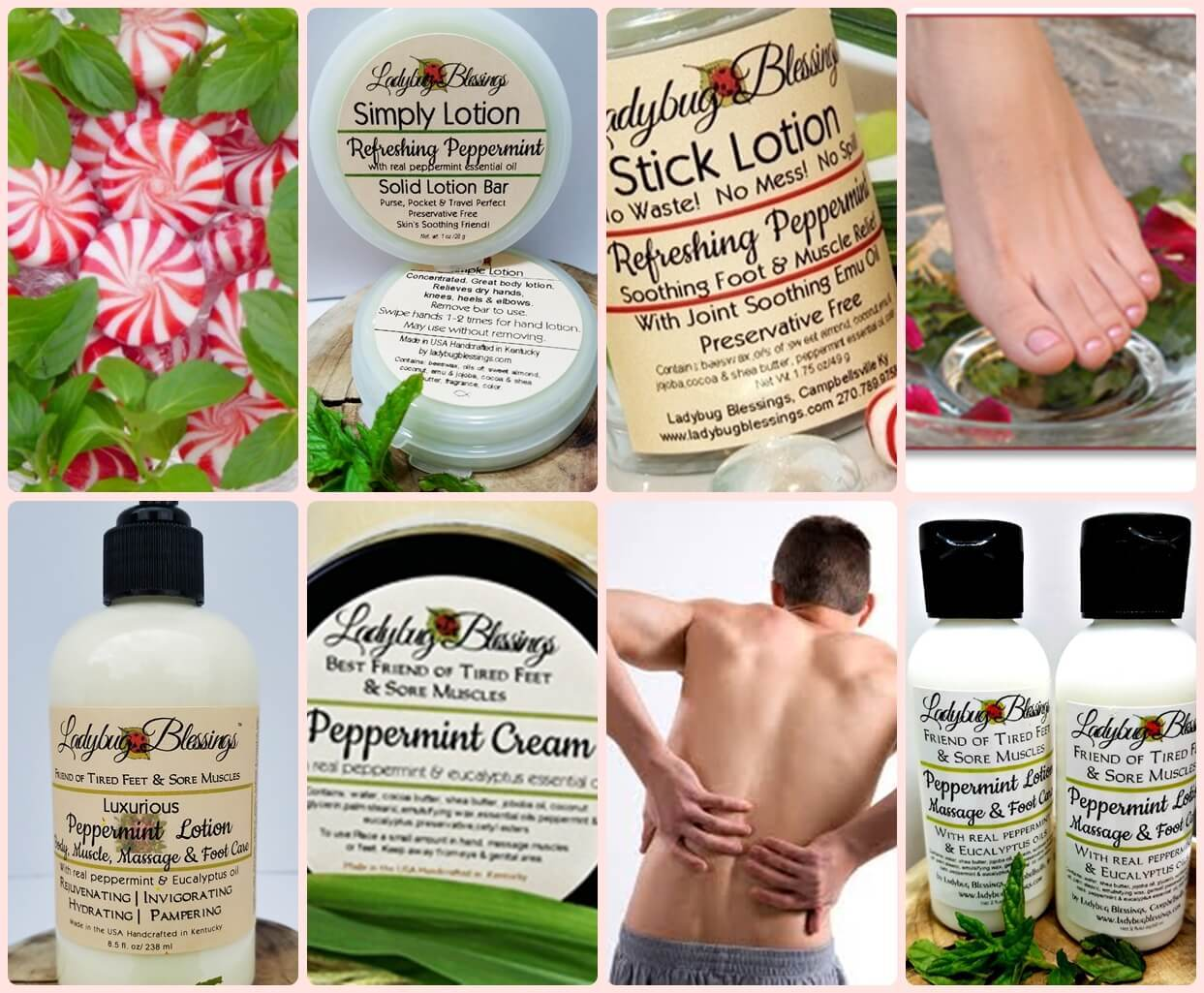 peppermint lotion, peppermint cooling lotion, peppermint foot lotion, natural peppemint lotion