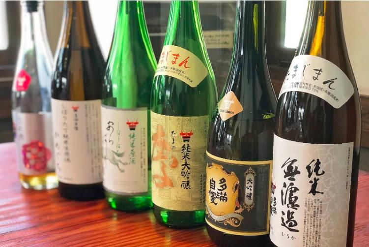 Samples of sake