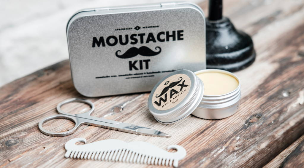 Order your moustache comb in a moustache grooming kit