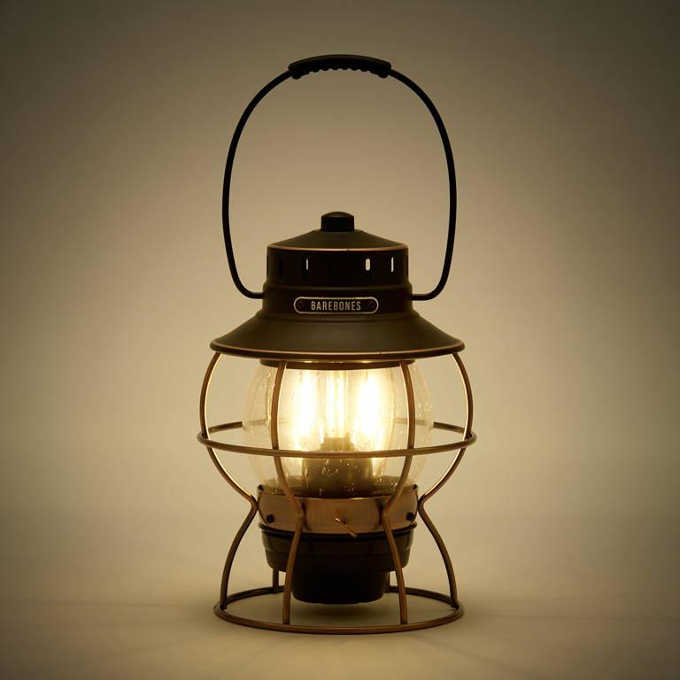 BAREBONES(ベアボーンズ)/レイルロードランタン LED/グレー