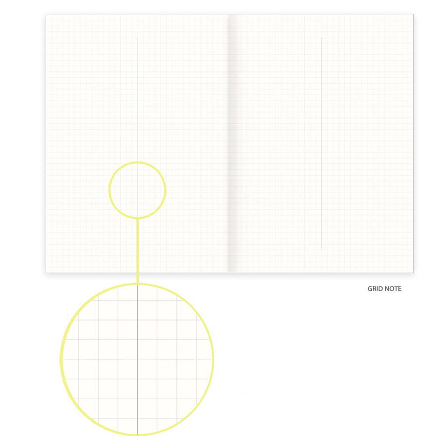 Grid note - Eedendesign 2020 Moon and grid monthly dated diary planner