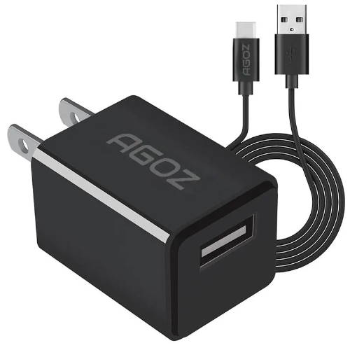1 Port Fast Charger Adapter with USB C Cable for Motorola