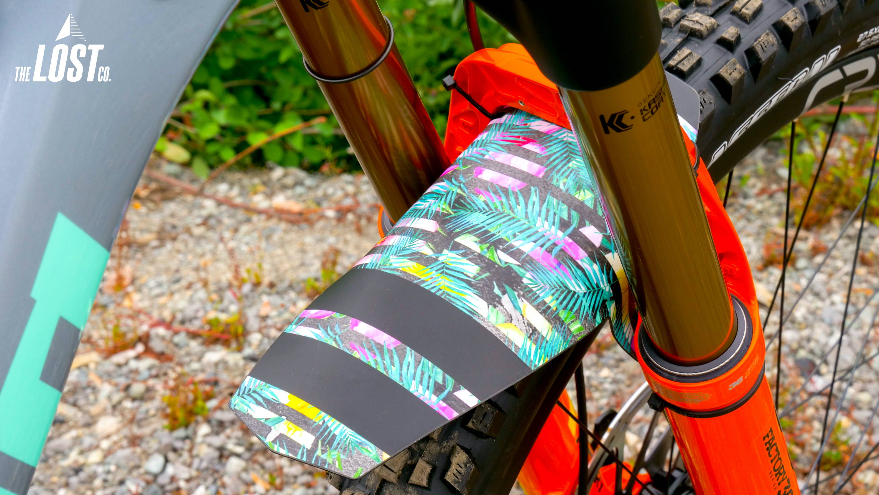 ground keeper groundskeeper groundkeeper fender mountain bike fenders staycation custom fox 36 orange