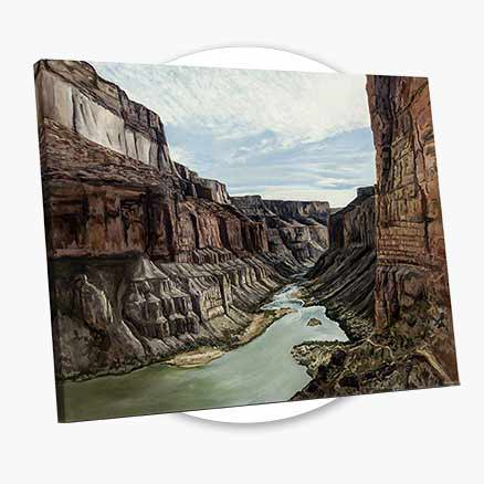 Into the Canyon Canvas Print