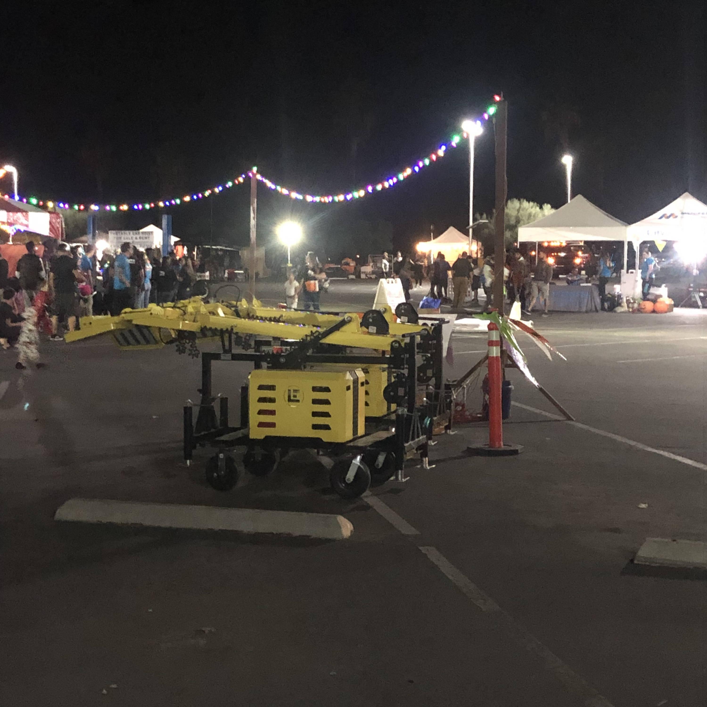 FoxFury Nomad scene lights replaced generator lights