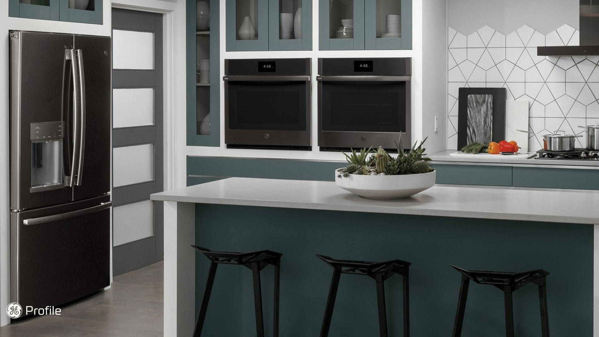 GE Profile Inchyra Blue Kitchen with Island