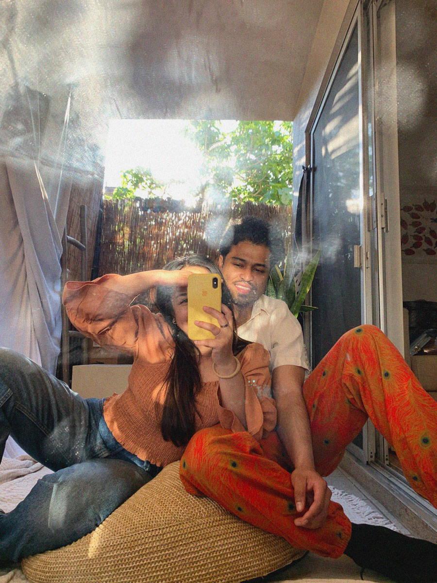 Sam Danan and Nikkolos Mohammed in her home studio.