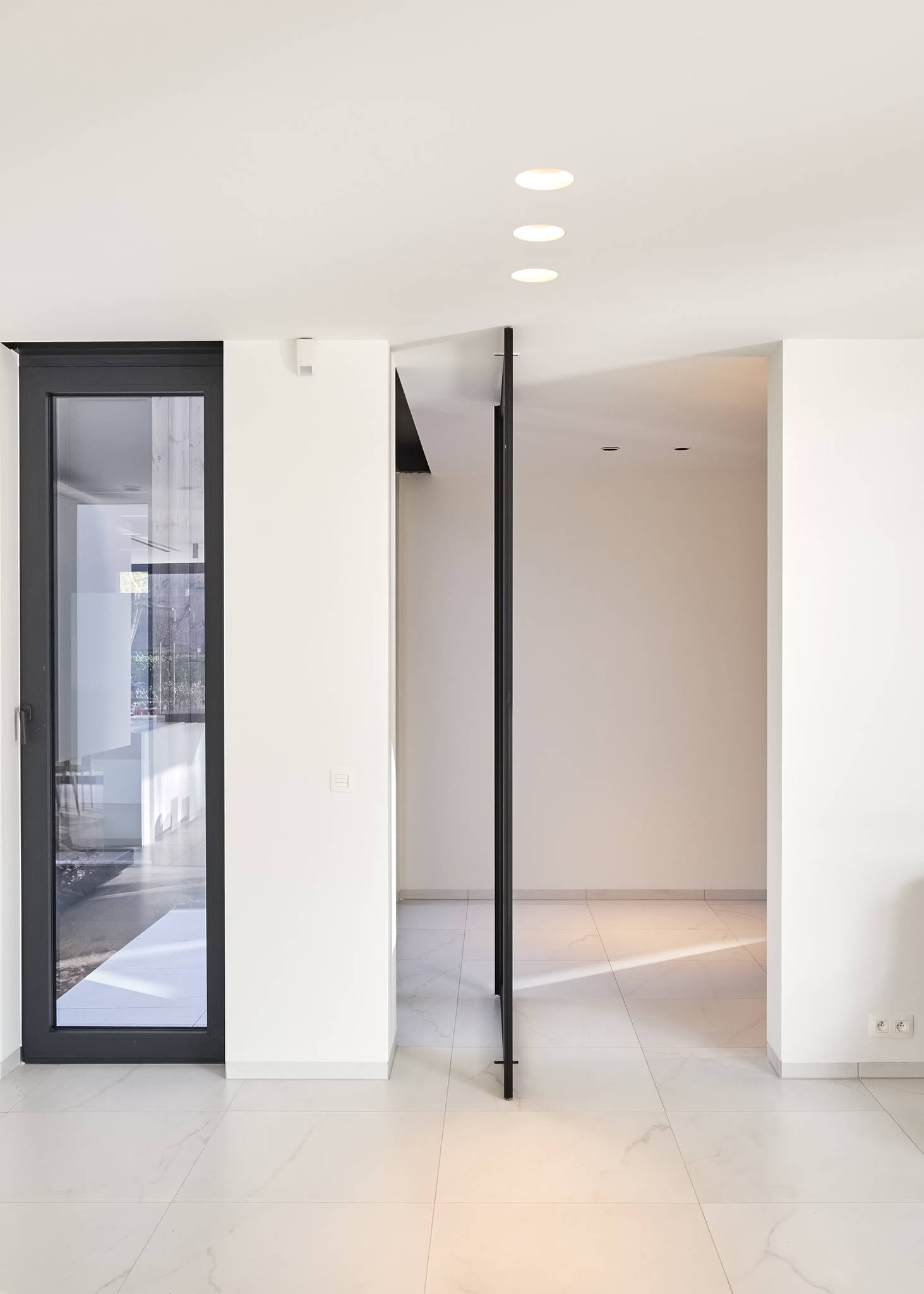 Pivot door with Stealth Pivot XL pivot hinge