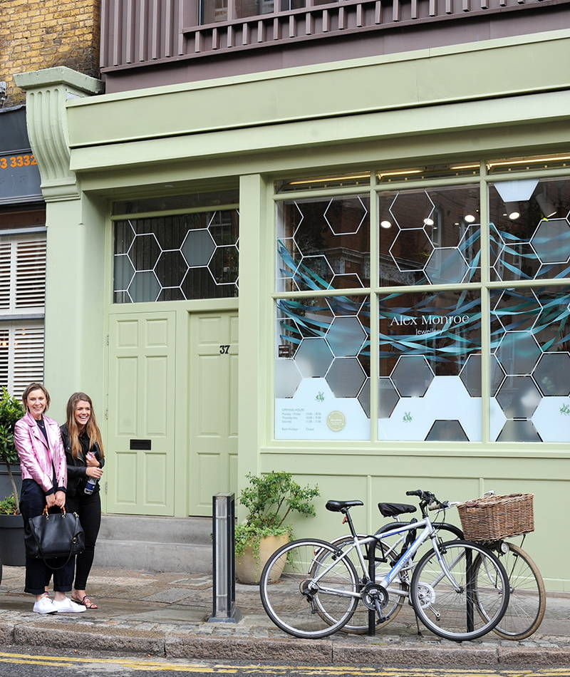 The Alex Monroe Studio and shop in London