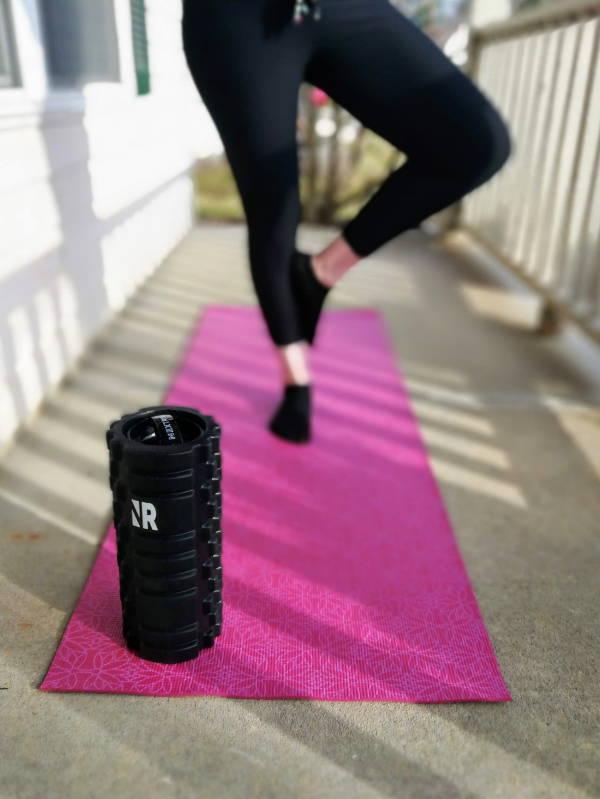 Foam Roller With Yoga