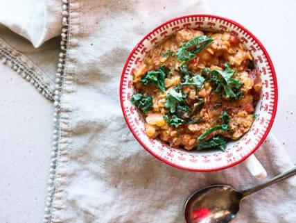 Repas rapide végétarien : dahl lentilles-coco, recette du blogue Isabelle Huot Docteure en nutrition