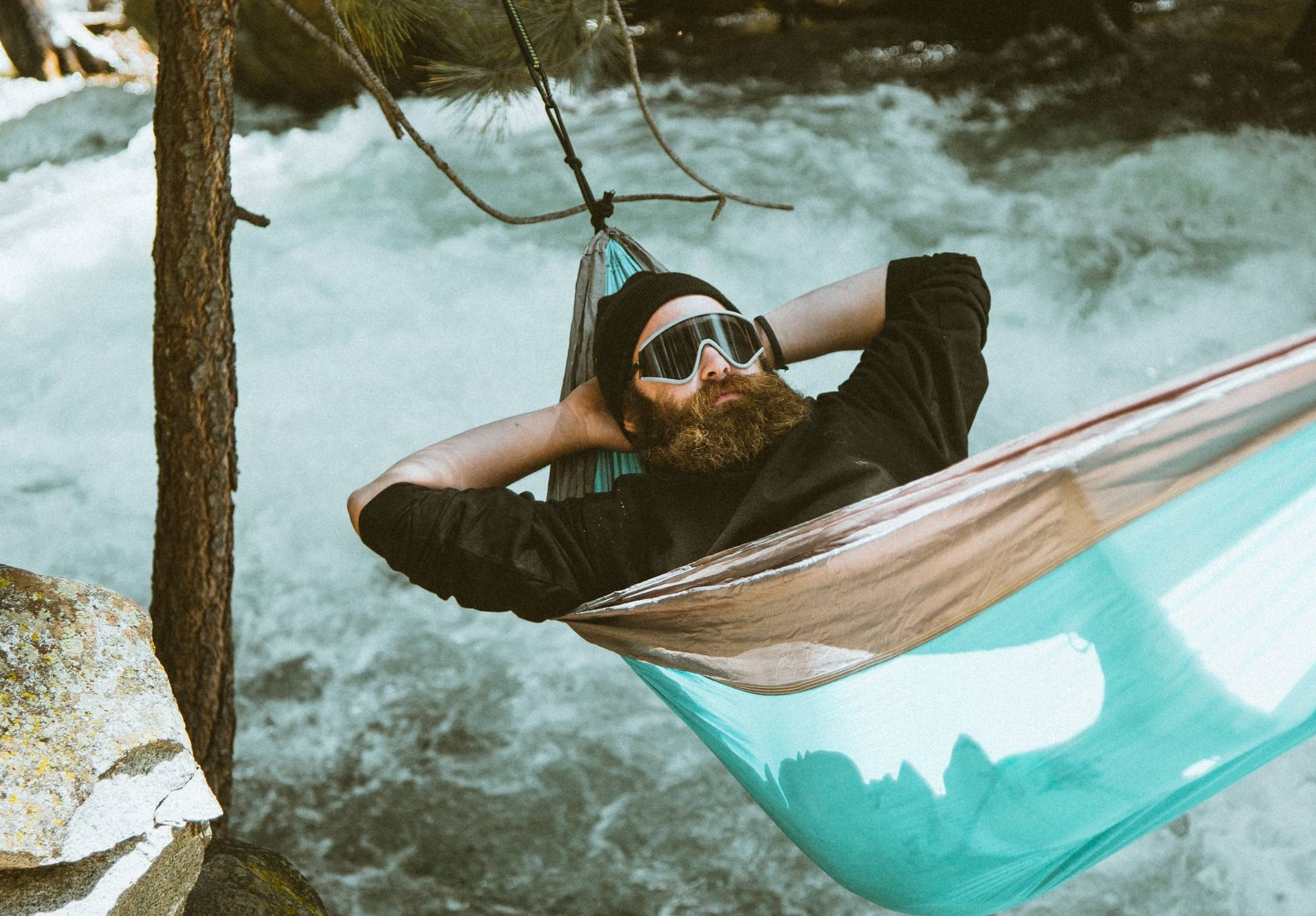 What is Nordic Chill. man relaxing in a hammock