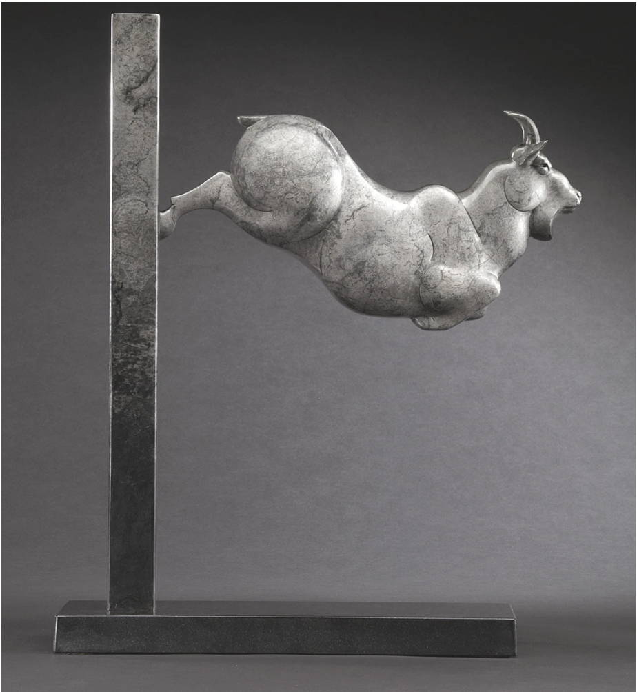Tim Cherry. Fine Art Sculpture. Lucky Goat. Santa Fe Art Gallery