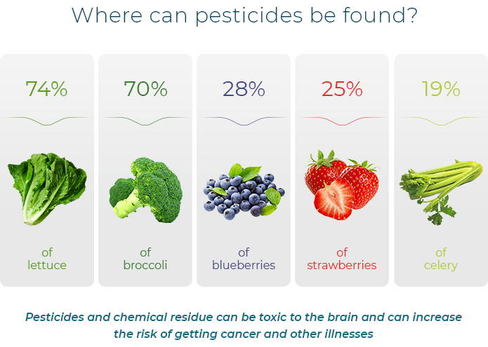 Infographic - Where can pesticides be found?