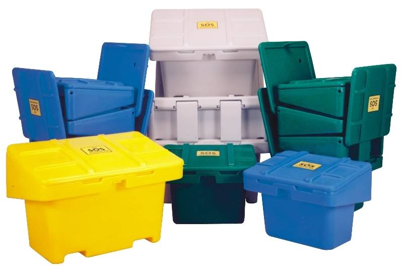 techstar sos salt and sand storage bins