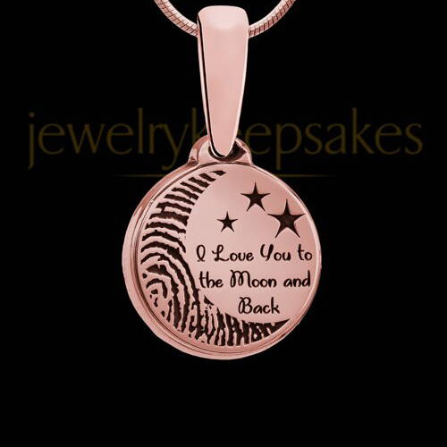 To The Moon and Back Rose Gold Fingerprint Jewelry