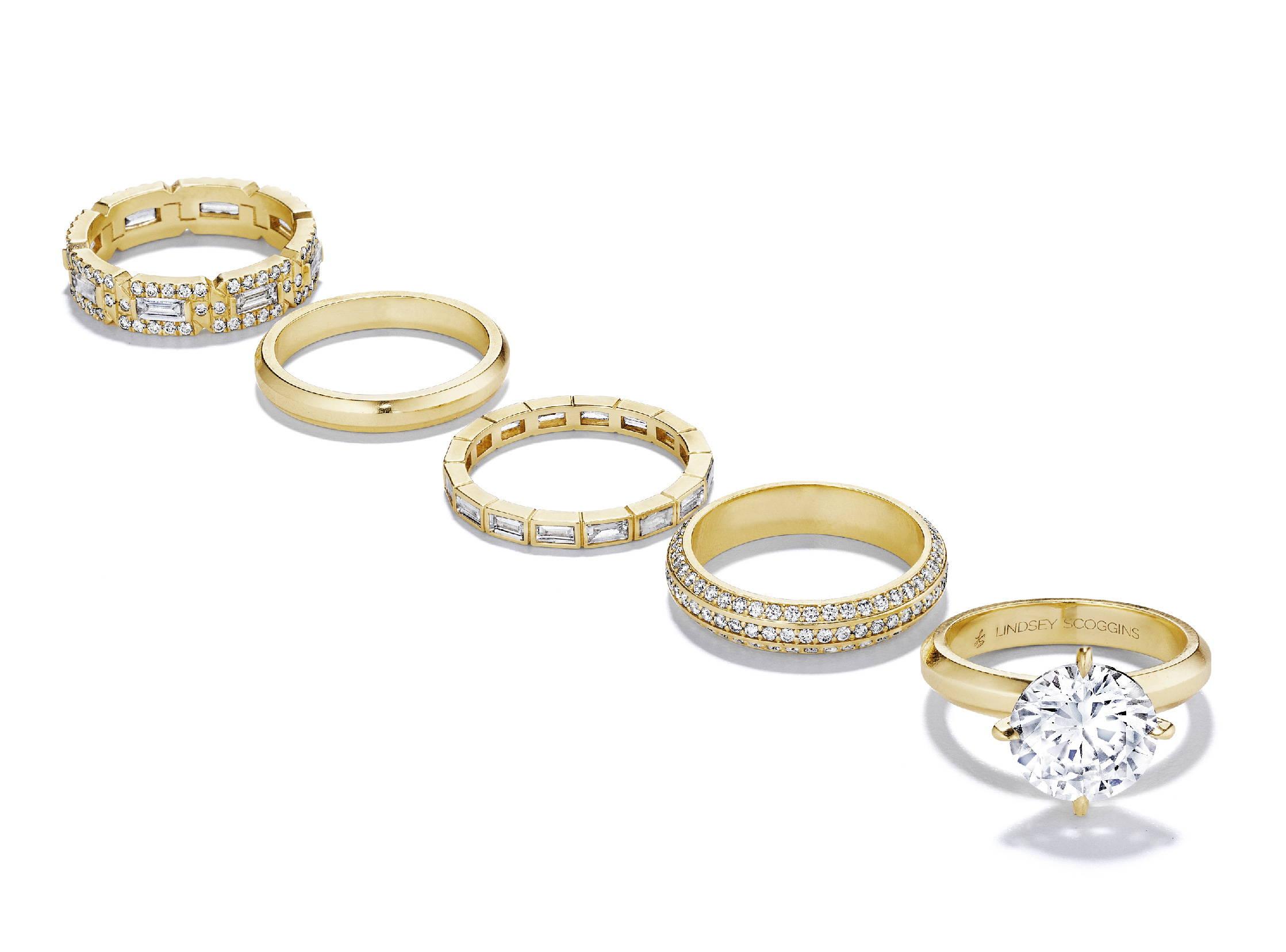 custom luxury gold and diamond rings