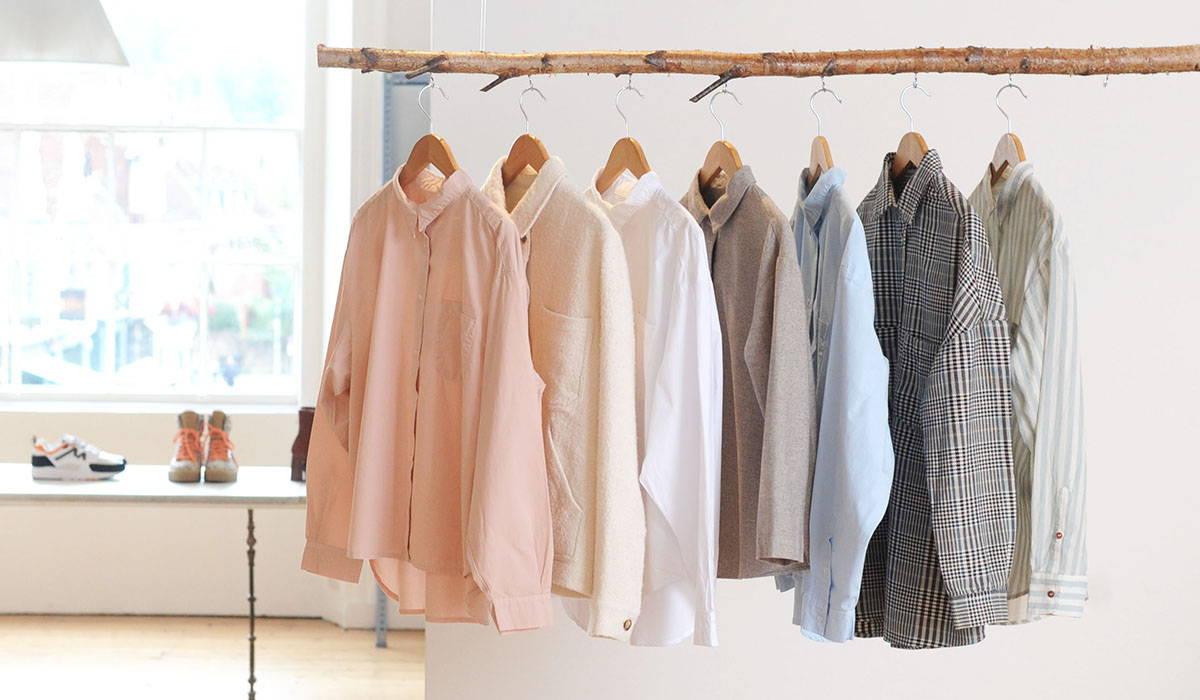 A rail of Sacre Coeur shirts