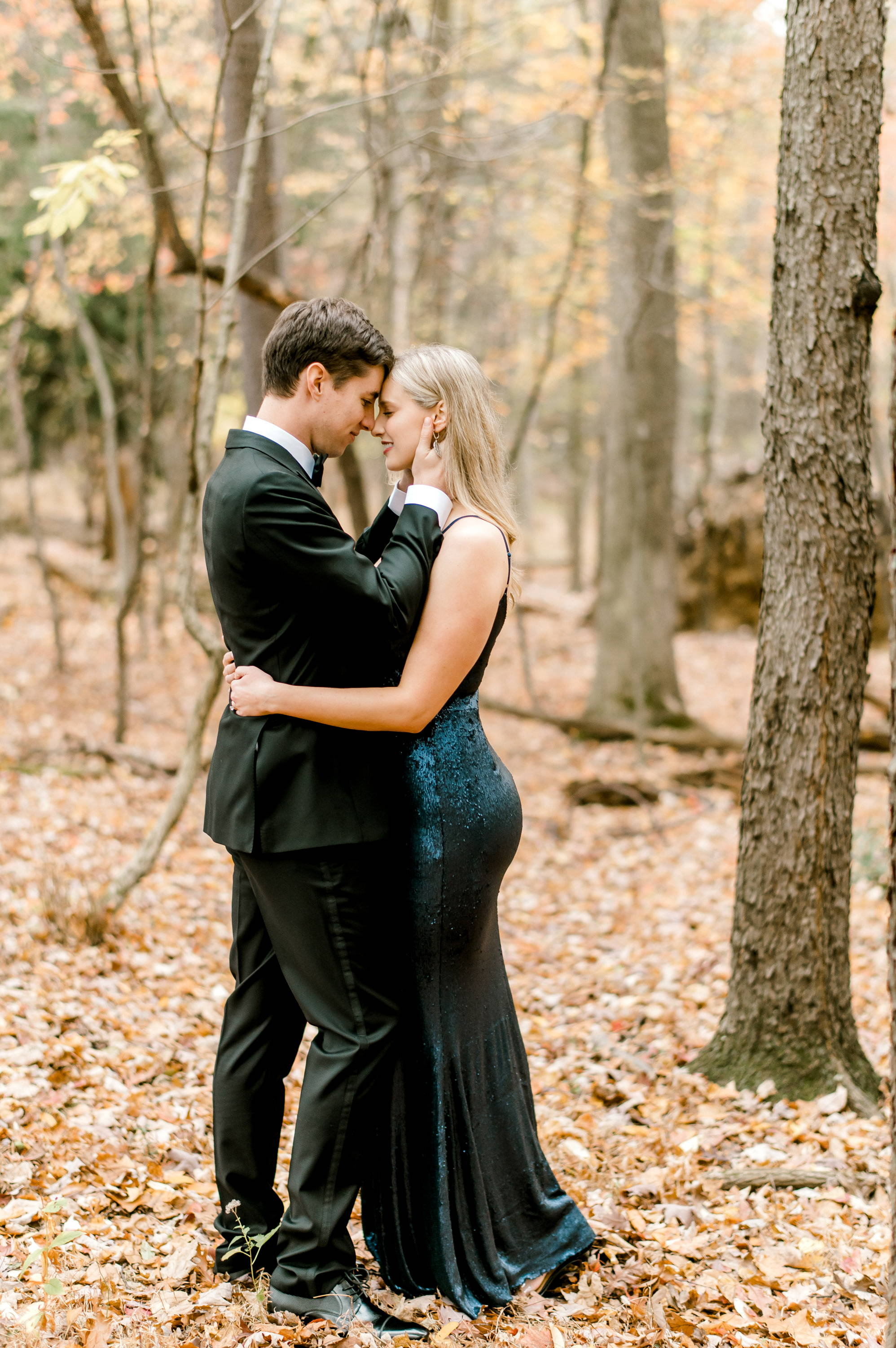 Henne Engagement Ring Couple Sean & Briana Share A Private Moment in the Woods
