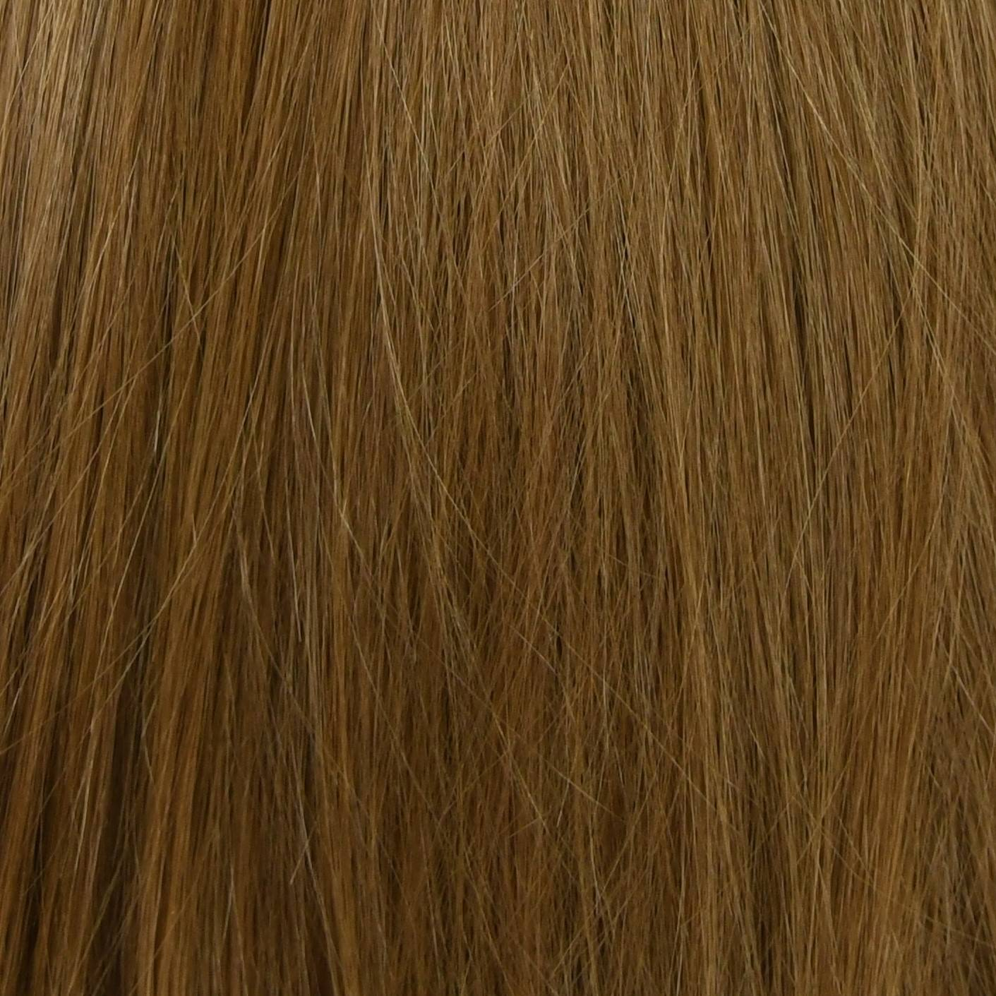 blend of dark brown and light brown hair extensions color sample in hair color chart