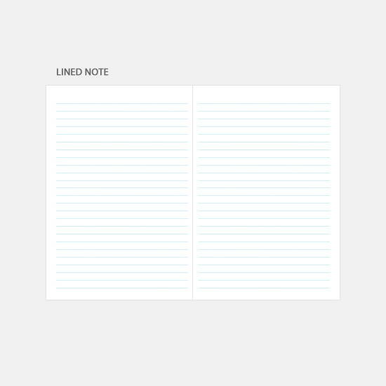 Lined note - 3AL Hello 2020 dated weekly diary planner
