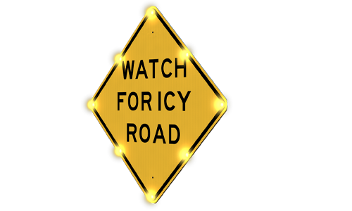 Single-sided-icy-road-warning-alert