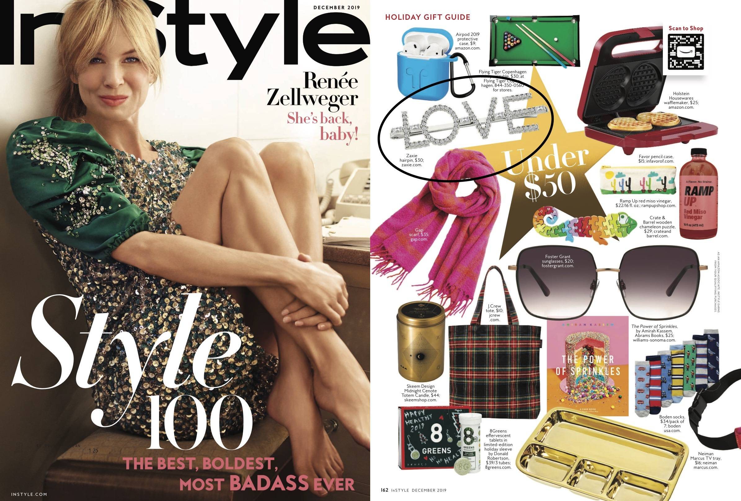 ZAXIE love hair pin in InStyle Gift Guide