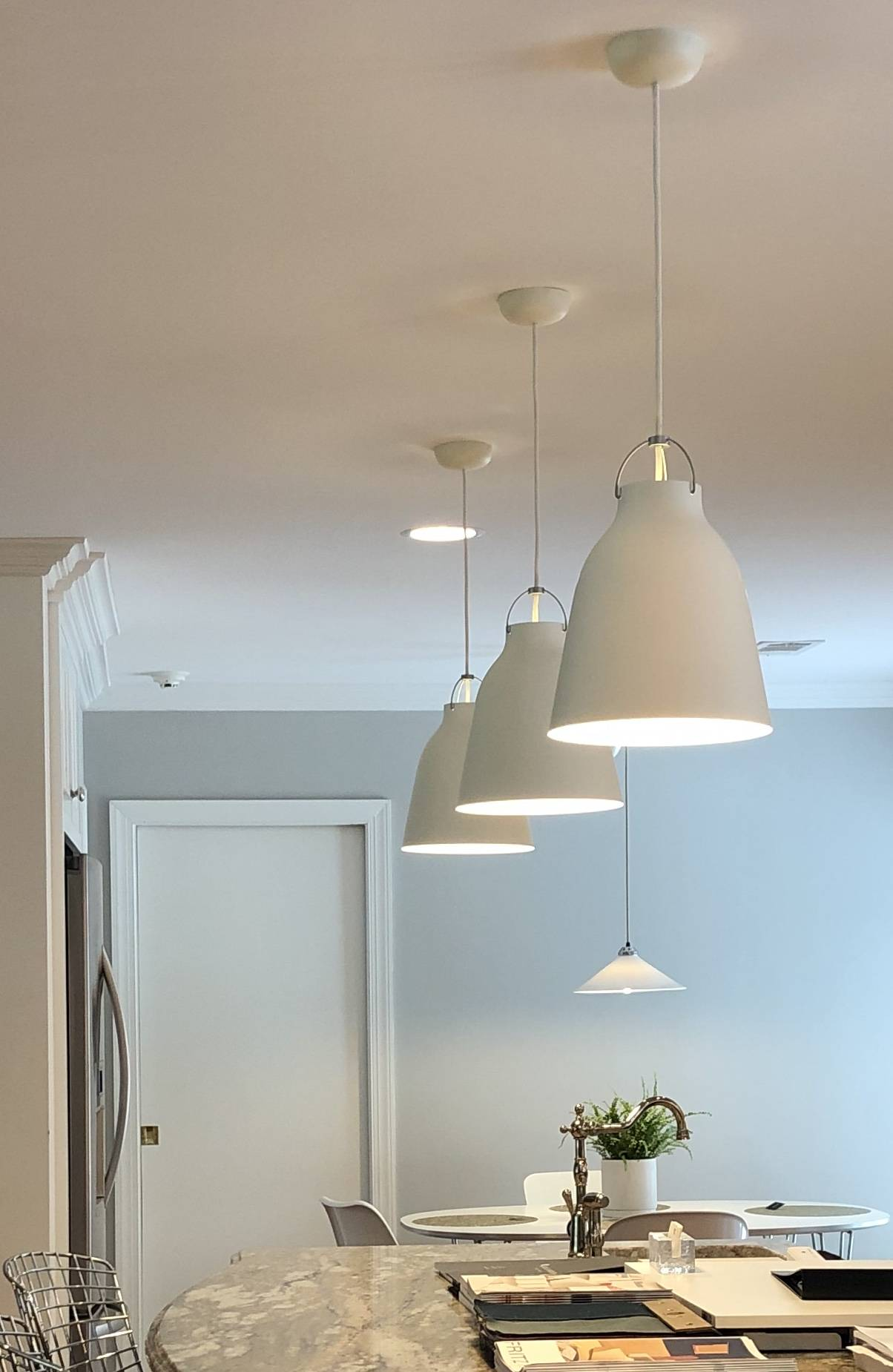 Fritz Hansen Caravaggio Pendant Lights by Cecilie Manz
