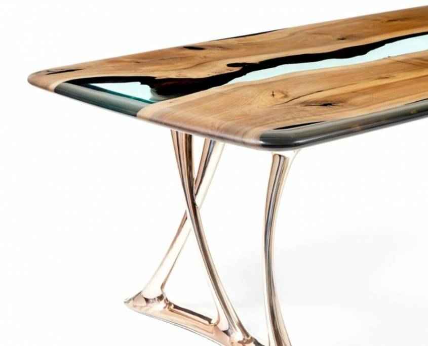 Naturalist Osso 270 Resin Dining Table Detail