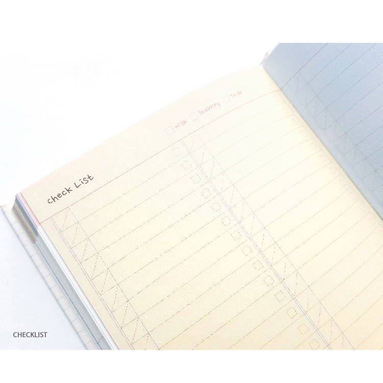 Checklist - O-CHECK 2020 Shiny days hardcover dated weekly diary planner