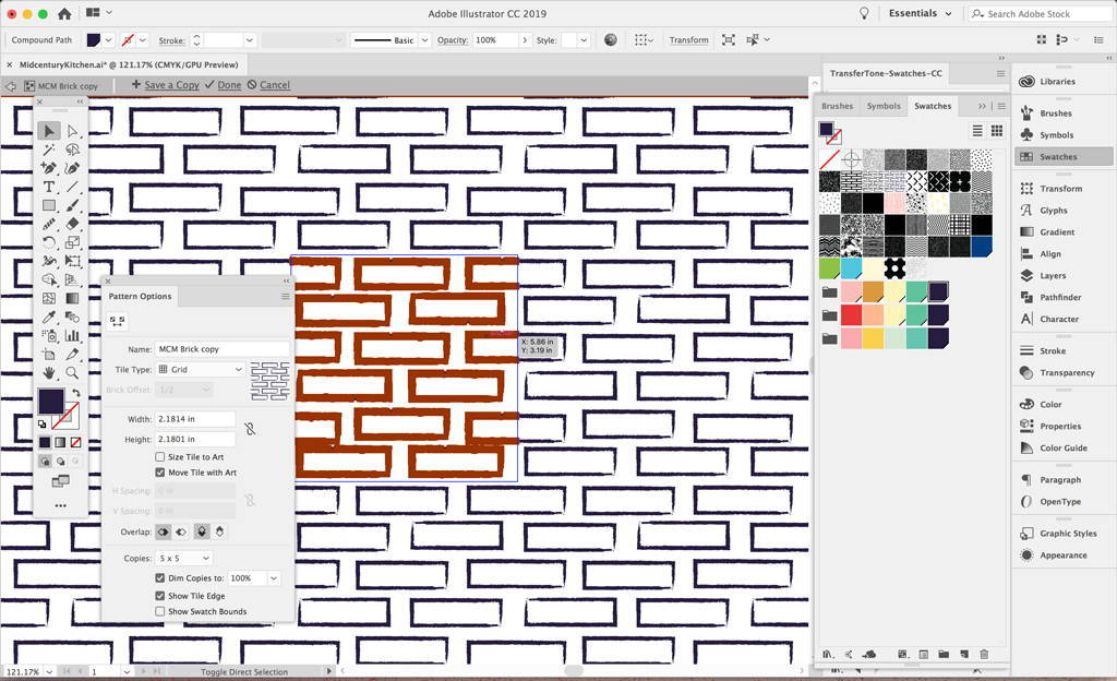Working with swatches in Adobe Illustrator
