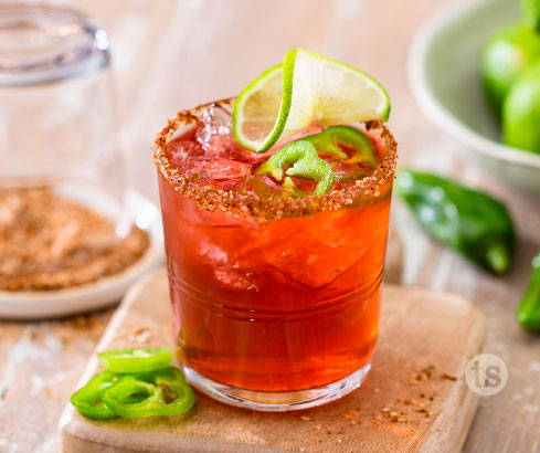 Raspberry Jalapeno Margaritas