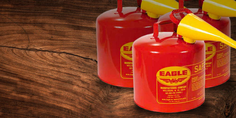 Eagle Type I Safety Cans for Gas and Diesel