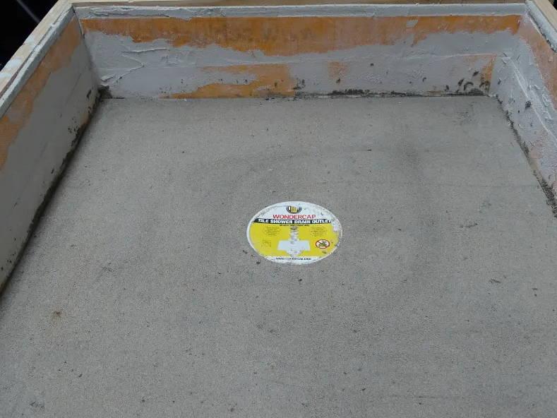 Wondercap shower floor drain plumber in house