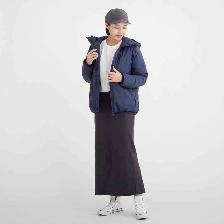 NANGA(ナンガ)/オーロラダウンジャケット/ネイビー/WOMENS