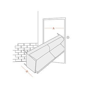 Koltuk kapıdan yatay giriş