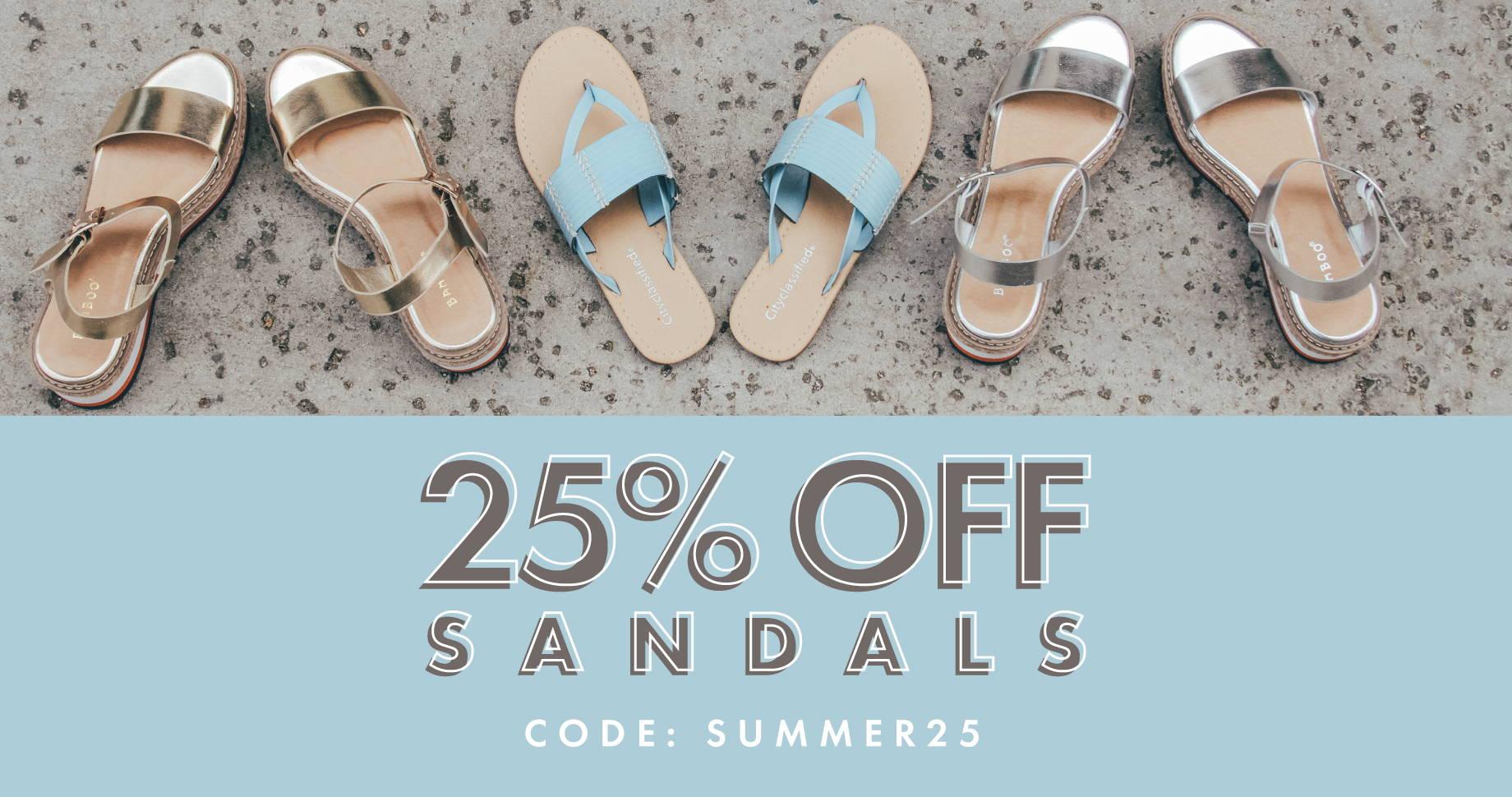 25% Off Sandals | CODE: SUMMER25